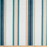 Martha Stewart Lily Pond Cabana Stripe Cotton Twill Multi