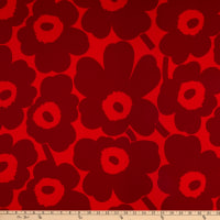 Marimekko Pieni Unikko Cotton Broadcloth Red/Dark Red