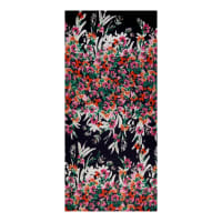 Spring Flowers Single Border Chiffon Navy/Green/Pink