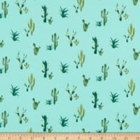 Double Brushed Poly Jersey Knit Cactus Mint/Green