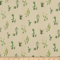 Fabric Merchants Double Brushed Poly Stretch Jersey Knit Cactus Taupe/Green