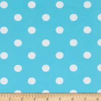Swimwear Nylon Spandex Polka Dot Baby Blue