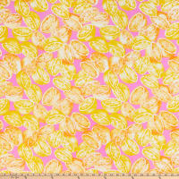 Swimwear Nylon Spandex Lemonade Hot Pink/Orange