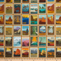 "Riley Blake National Parks Posters 23"" Panel Sand"