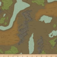 Riley Blake National Parks Map Brown