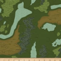 Riley Blake National Parks Map Green