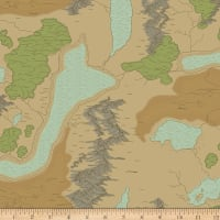 Riley Blake National Parks Map Sand