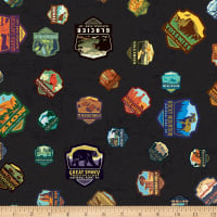 Riley Blake National Parks Patches Black
