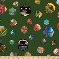 Riley Blake National Parks Patches Green
