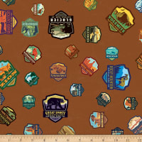 Riley Blake National Parks Patches Light  Brown