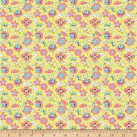 Riley Blake Paper Daisies Floral Yellow