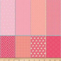 """Riley Blake Paper Daisies 36"""" Fat Eighth Panel Pink"""