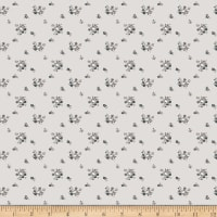 Riley Blake Serenity Delicate Bouquet Light Grey