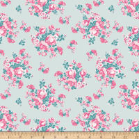 Riley Blake Chloe And Friends Floral Mint