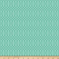 Riley Blake Flower Market Geometric Teal