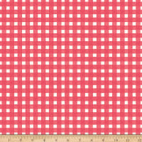 Riley Blake Flower Market Gingham Coral