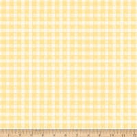 Riley Blake Flower Market Gingham Yellow