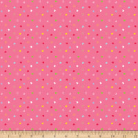 Riley Blake Flannel Once Upon A Time Hearts Pink