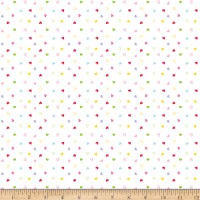 Riley Blake Flannel Once Upon A Time Hearts White