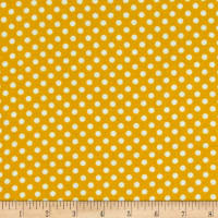 Harrison Park BTY Studio 8 Quilting Treasures Yellow Red Black Polka Dot