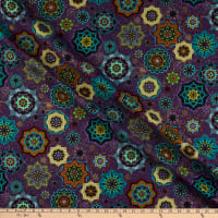 Windham Grand Illusion Tossed Medallion Purple