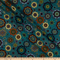 Windham Grand Illusion Tossed Medallion Teal