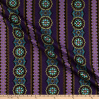 Windham Grand Illusion Medallion Stripe Purple
