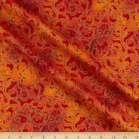 Windham Fabrics Grand Illusion Scroll Crimson