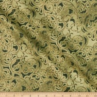 Windham Fabrics Grand Illusion Scroll Green