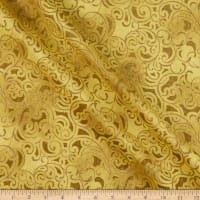 Windham Fabrics Grand Illusion Scroll Gold