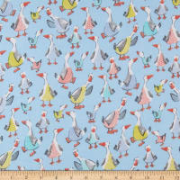 Cubby Bear Flannel Mother Goose Soft Blue