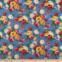 Windham Fabrics Pemberley Flannel Large Floral Periwinkle