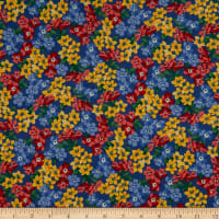 Windham Pemberley Flannel Small Floral Dark Blue