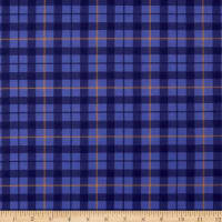 Windham Pemberley Flannel Plaid Periwnkle