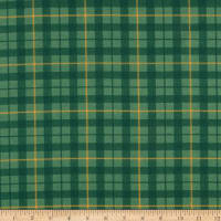 Windham Fabrics Pemberley Flannel Plaid Green