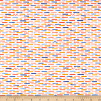 Windham Fabrics Sweet Oak Striped Pear Inch Worm White
