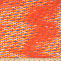 Windham Fabrics Sweet Oak Striped Pear Inch Worm Fire Red