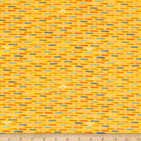 Windham Fabrics Sweet Oak Striped Pear Inch Worm Yellow