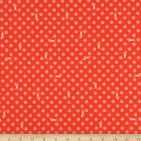 Windham Fabrics Sweet Oak Striped Pear Snails Fire Red