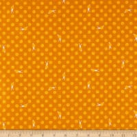 Windham Fabrics Sweet Oak Striped Pear Snails Ochre