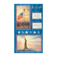 "Thomas Kinkade America, America 24"" Panel Blue/Multi"