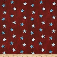 American Rustic Stars on Denim Red