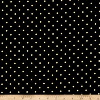 Kanvas Lemon Fresh Lemon Drop Dots Black