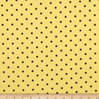 Kanvas Lemon  Fresh Lemon Drop Dots Lemon Yellow