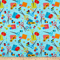 Kanvas Sew Excited, Sewing Notions Turquoise