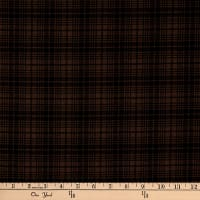 Benartex Another Moose Is Loose Wool Plaid Brown