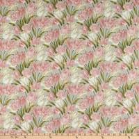 Benartex Totally Tulips Main Pink Grey