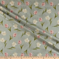 Benartex Totally Tulips Tulip Medallion Grey Multi