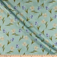 Benartex Totally Tulips Tulip Medallion Teal Multi