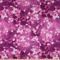 Benartex Blooming Beauty Dragonfly Garden Violet